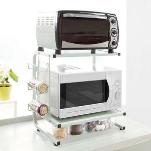 SoBuy Mikrowellenhalter,Küchenregal,Miniregal,Mikrowellenregal,beige, FRG092-W