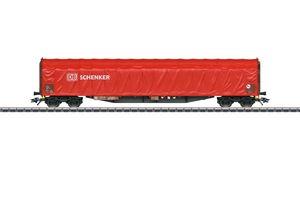 Märklin H0  47105 Schiebeplanenwagen Rils DB Schenker. Verkehrsrote Grundfarbgebung
