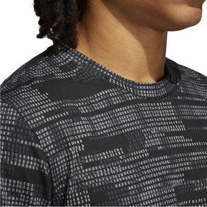 adidas T Shirt Herren Rundhals, Größe:L, Farbe:Schwarz