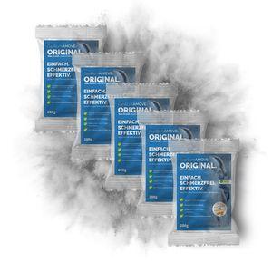 1kg (5x200g) Capillum AMOVE Original Intim Enthaarungscreme Pulver ohne synth. Zusätze für empfindliche Haut