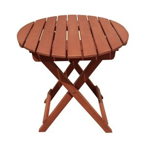 Beistelltisch Eukalyptusholz Holz Gartentisch Tisch Gartenmöbel Balkontisch