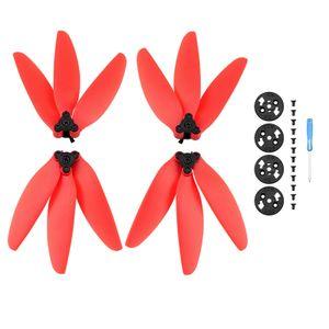 2-Paar-Schnellwechsel-Propellerersatzteil mit drei Flügeln in Rot für Mavic Mini / Mini 2-Zubehör