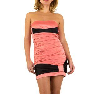 Ital-Design Damen Kleider Cocktail- & Partykleider Rosa Gr.38