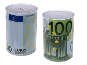 XXXL Jumbo Spardose 100€-Motiv 22x15 cm Riesige Sparbüchse