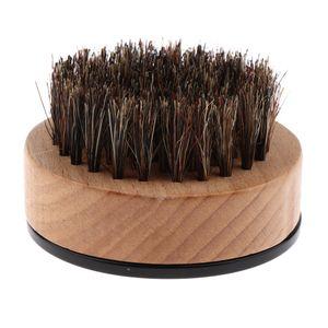 Profi Bartbürste aus Holz und Wildschweinborsten für Die Tägliche Bartpflege