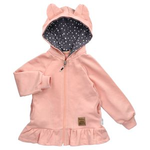 Baby Mädchen Jacke mit Kapuze rosa 104 (3-4 Jahre)