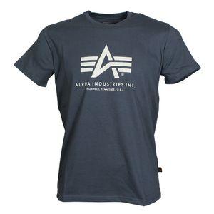 ALPHA Industries Basic T-Shirt grey-black, Größe:L