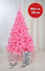 Künstlicher Weihnachtsbaum rosa 180 cm Tannenbaum Christbaum Baum Weihnachten
