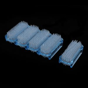 5er Set Nagelbürste Handbürste aus Kunststoff, Handwaschbürste mit Borstenstärken