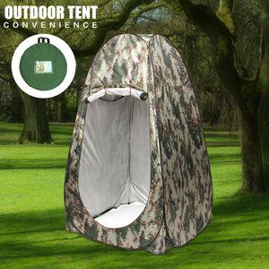 Wasserdicht Duschzelt Toilettenzelt Umkleidezelt PopUp Camping Zelt Beistellzelt Tarnung