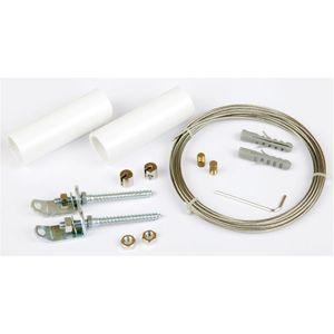 Seilspanngarnitur Combi Line Spannseil für Gardinen (5m), Farbe: Weiß