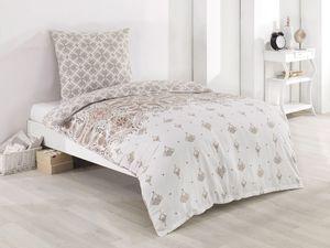 Bettwäsche Bettbezug 200x200 cm, Kopfkissenbezug 80x80 cm  3 teilig Bettgarnitur Bettwäsche - Set  Baumwolle Renforce mit Reissverschluss