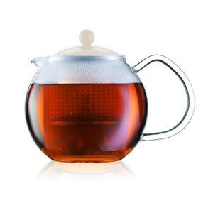 BODUM ASSAM Teekannenkolben-Kunststofffilter 0,5L weiß