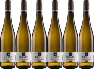 6x Gewürztraminer feinherb 2016 – Weingut Karl Kraus, Pfalz – Weißwein