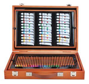 Malset Koffer Mega-Set 174 Einzelteile im Koffer Künstler Maler Kreative Kunst 6004