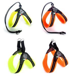 Tre Ponti Geschirr Easy Fit Soft Fleece in div. Größen und Farben, Größe:Gr.3/ 41-43cm/Click-Verschluss, Farbe:orange