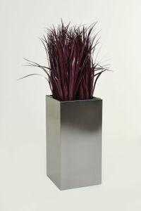 """Blumenkübel Pflanzkübel Edelstahl """"Block"""" Säule, Gebürstet - 30x30x60 cm"""