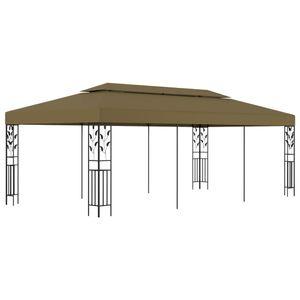 Pavillon Gartenpavillon Partyzelt Gartenzelt | Camping Pavilon für Garten, Terrasse, Party 6x3 m Taupe 180 g/m² | 2471