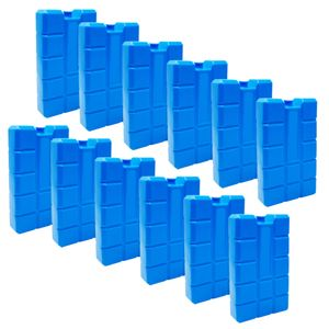 ToCi 12er Set Kühlakku mit je 400 ml | 12 blaue Kühlelemente für die Kühltasche oder Kühlbox