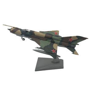 1: 100 MIG 21 Flugzeughubschrauber Modell Flugzeug Home Room Decor 21x10cm