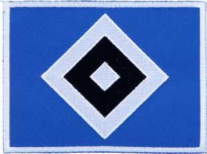"HSV Aufnäher ""Raute"" groß, 10 x 7 cm"