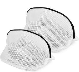 4 Stück Wäschebeutel für Schuhe/Sneaker Waschmaschine mit Reißverschluss Schuh-Wäschebeutel Schuhbeutel Wäschesack Schutz Wäschenetze für Aufbewahrung und die Reise