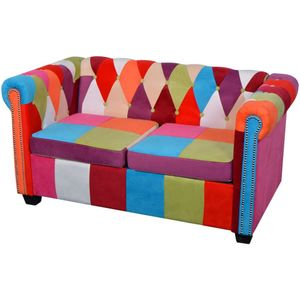 vidaXL Chesterfield Sofa 2-Sitzer Stoff