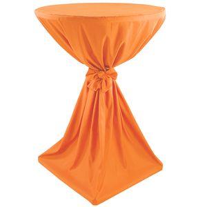 Stehtischhusse Classique Ø 70 cm Orange - klassische Husse für gängige Bistrotische und Stehtische - Tisch-Überzug