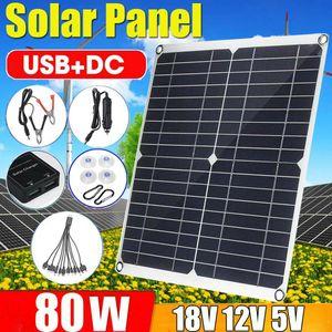 80W Solarpanel Solarmodul Ladegerät 10/20/30A Solarregler Laderegler  für Auto Fahrzeug Boot RV Handy