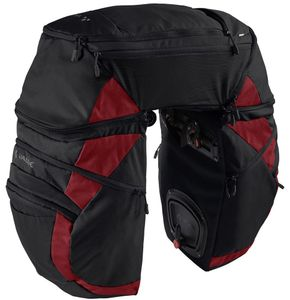 VAUDE Karakorum Pro Gepäckträgertasche, Farbe:black/carmine