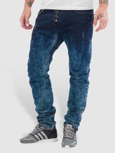 Cipo & Baxx Männer Straight Fit Jeans Acid in blau Cipo & Baxx