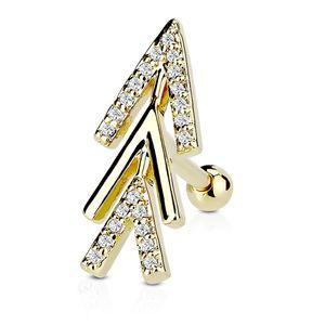 Tragus Ohr Piercing Stecker Helix Cartilage Barbell Pfeil Arrow Autiga®