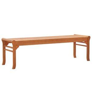 vidaXL 3-Sitzer Gartenbank 150 cm Eukalyptus Massivholz
