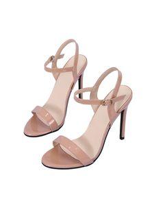 Damen Stiletto High Heels Solid Color Strap Open Toe Schuhe Dinner Party Sandalen,Farbe:Pink,Größe:37