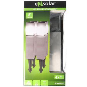 4er Set LED Solar-Wegeleuchte GL004NP4EZ, rostfreier Edelstahl, mit Standard NiMH Akku, ähnlich GL004NP4DU