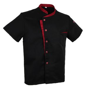 uni chef jacke mantel kurzarm shirt hotel küche uniform schwarz 3xl Farbe Schwarz 3XL