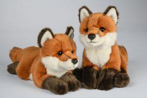 Kuscheltier Fuchs liegend rotbraun 30cm (mit Schwanz)