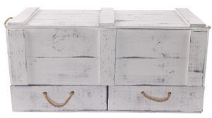 1x VINTAGE TRUHE aus Holz mit Deckel + 2 Schubladen / NEU / 85 x 39 x 40 cm / im Vintage Design