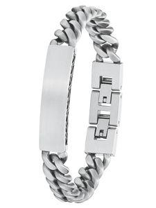 s.Oliver 2027424 Herren Armband Edelstahl Silber 21,5 cm