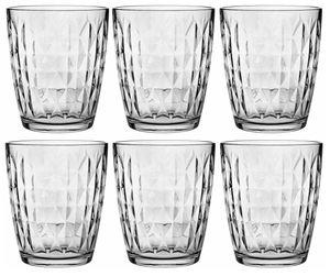 6 Trinkgläser 340ml Wassergläser Saftgläser Longdrinkgläser Strukturierte Innenfläche