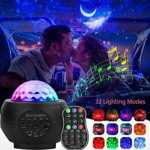 Bluetooth LED Night Light Galaxy Sternennachtlicht Projektor Lautsprecher Ocean Star Sky Party Disco Light