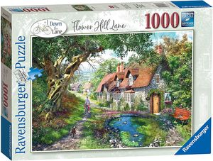 Ravensburger 16777 Blumen Flower Hill Lane - 1000 Teile Puzzle Gemaltes