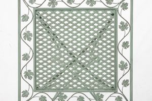CLP Eisentisch Asina 60 x 60 cm, Farbe:antik-grün