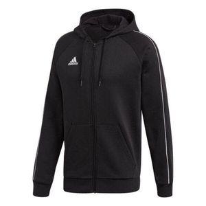 adidas Core 18 Zip-Hoodie Herren - schwarz/weiß XL