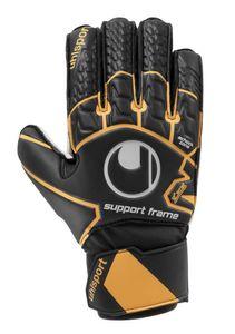 uhlsport Soft Resist SF Torwarthandschuhe mit Fingerschutz schwarz/fluo orange/weiss 8