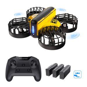 Holy Stone HS450 Mini Drohne, handbetriebener und ferngesteuerter Nano Quadkopter für Kinder, mit 3 Batterien