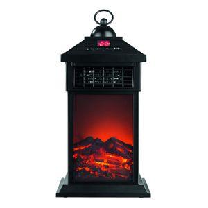 LED Laterne Flammeneffekt Heizung 400W Heizfunktion Kaminfeuer Fernbedienung