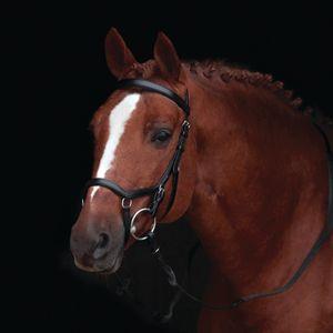 Horseware Rambo Micklem Original Competition Bridle ohne Zügel - black, Größe:Pony (S)