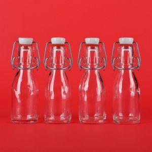 BUEGEL-100 10x leere Glasflaschen 100 ml mit Bügelverschluss kleine Bügel-Flasche 0,1 liter