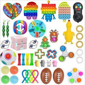 43 X Pop It Kinder Fidget Sensory Toy Set Autismus SEN ADHS Fidget Stressabbau Spielzeug Bubble Fidget Antistress Weihnachten Toys Erwachsene